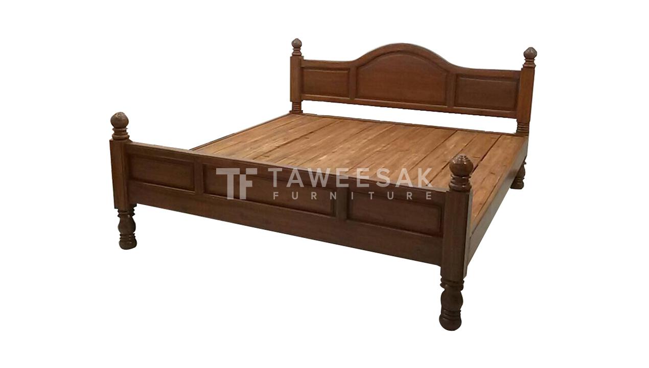 เตียงไม้สัก BE007
