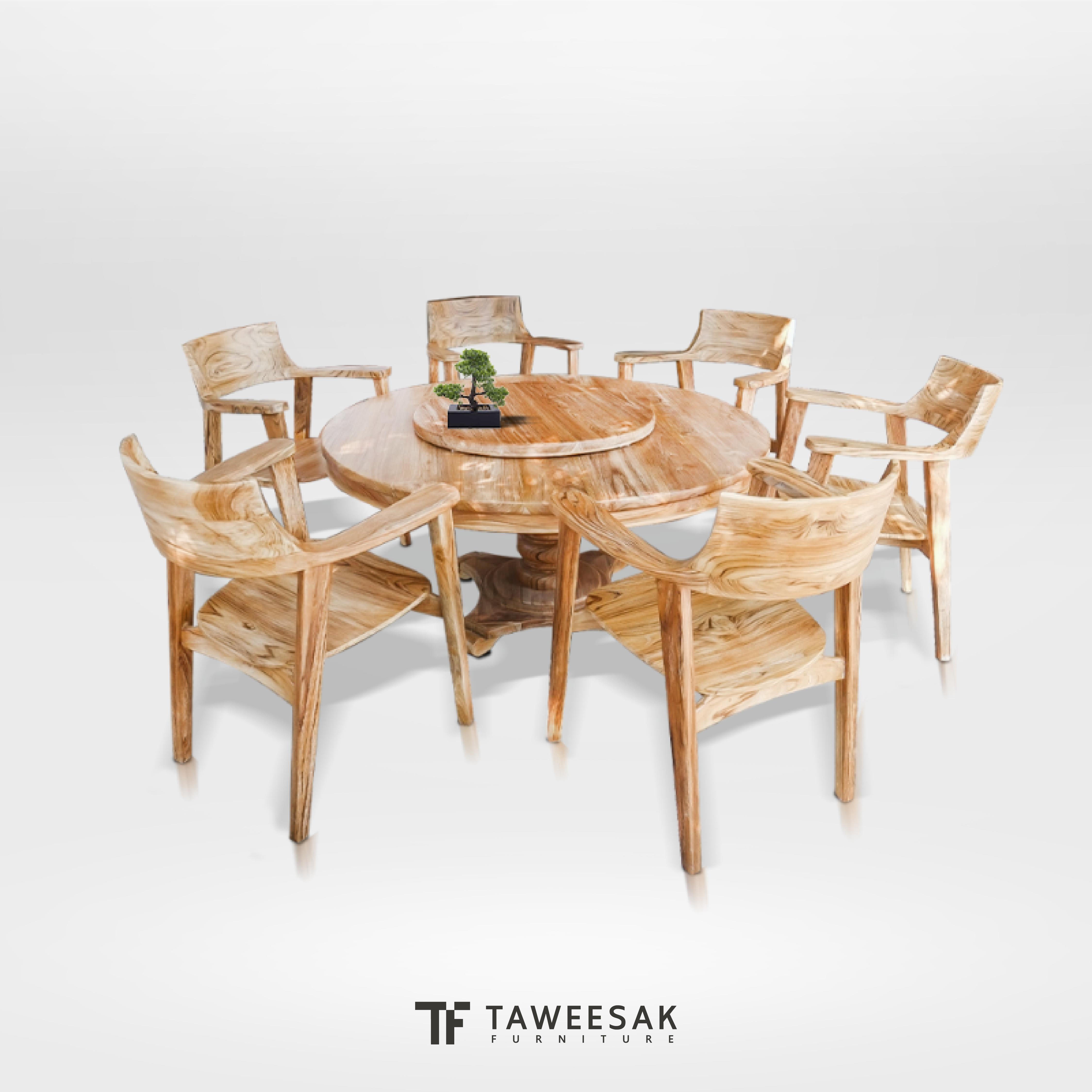 ชุดโต๊ะอาหารไม้สัก DS051