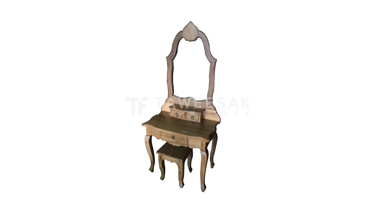 โต๊ะเครื่องแป้งไม้สัก DT007