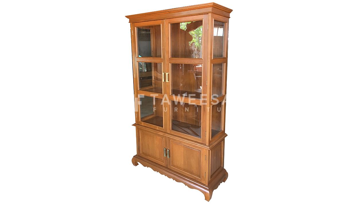ตู้โชว์กระจกไม้สัก SC017