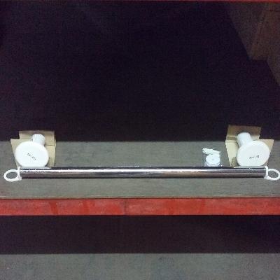 SVQ24304261N01/NM-9433-TR ราวแขวนผ้าสแตนเลส สีขาว