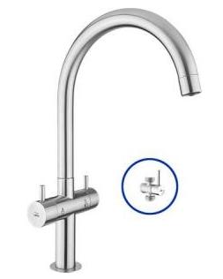 HFVSB-100252 ก็อกน้ำดื่ม-น้ำใช้ตั้งพื้น+STOP VAVLE-DUO