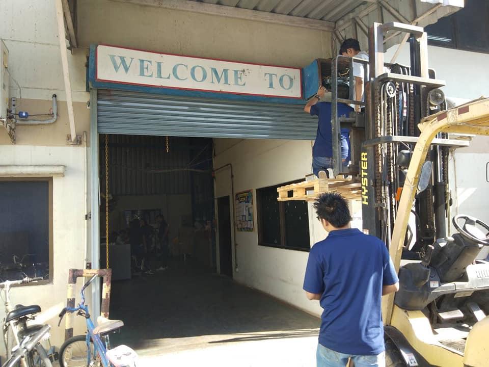 ซ่อมประตูม้วน จังหวัดลพบุรี งานเปลี่ยนมอเตอร์ 600 kg