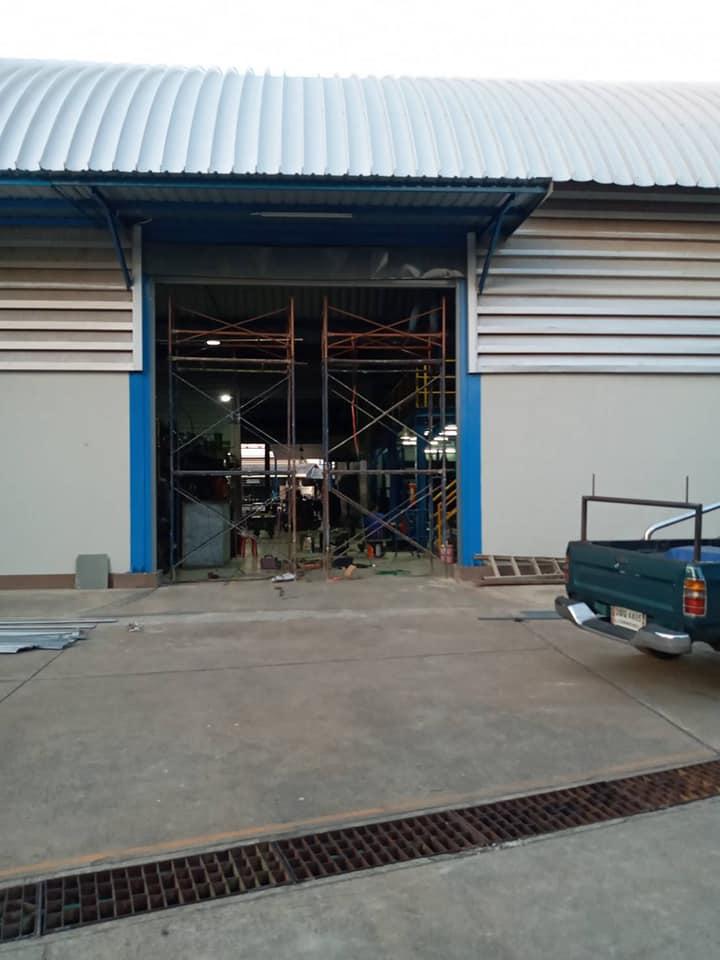 ซ่อมประตูม้วน จ.ราชบุรี งานเปลี่ยนใบประตูม้วน เปลี่ยนแผ่นกล่องหุ้มใหม่