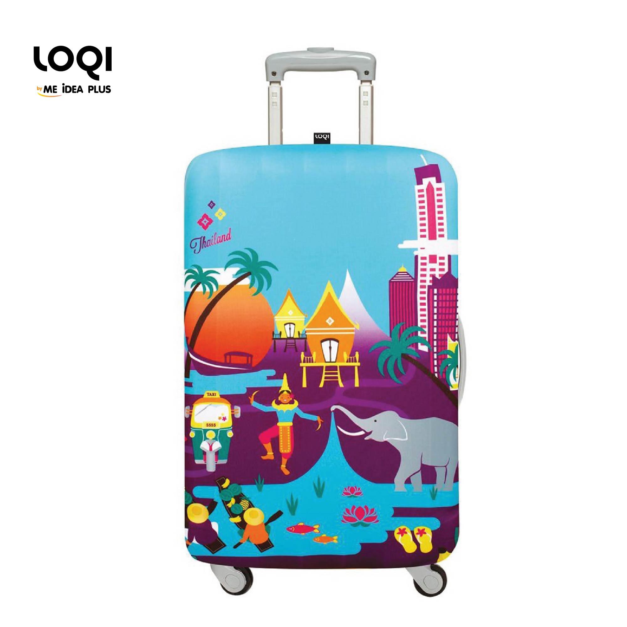 ผ้าคลุมกระเป๋าเดินทางLOQI ลาย Urban Thailand