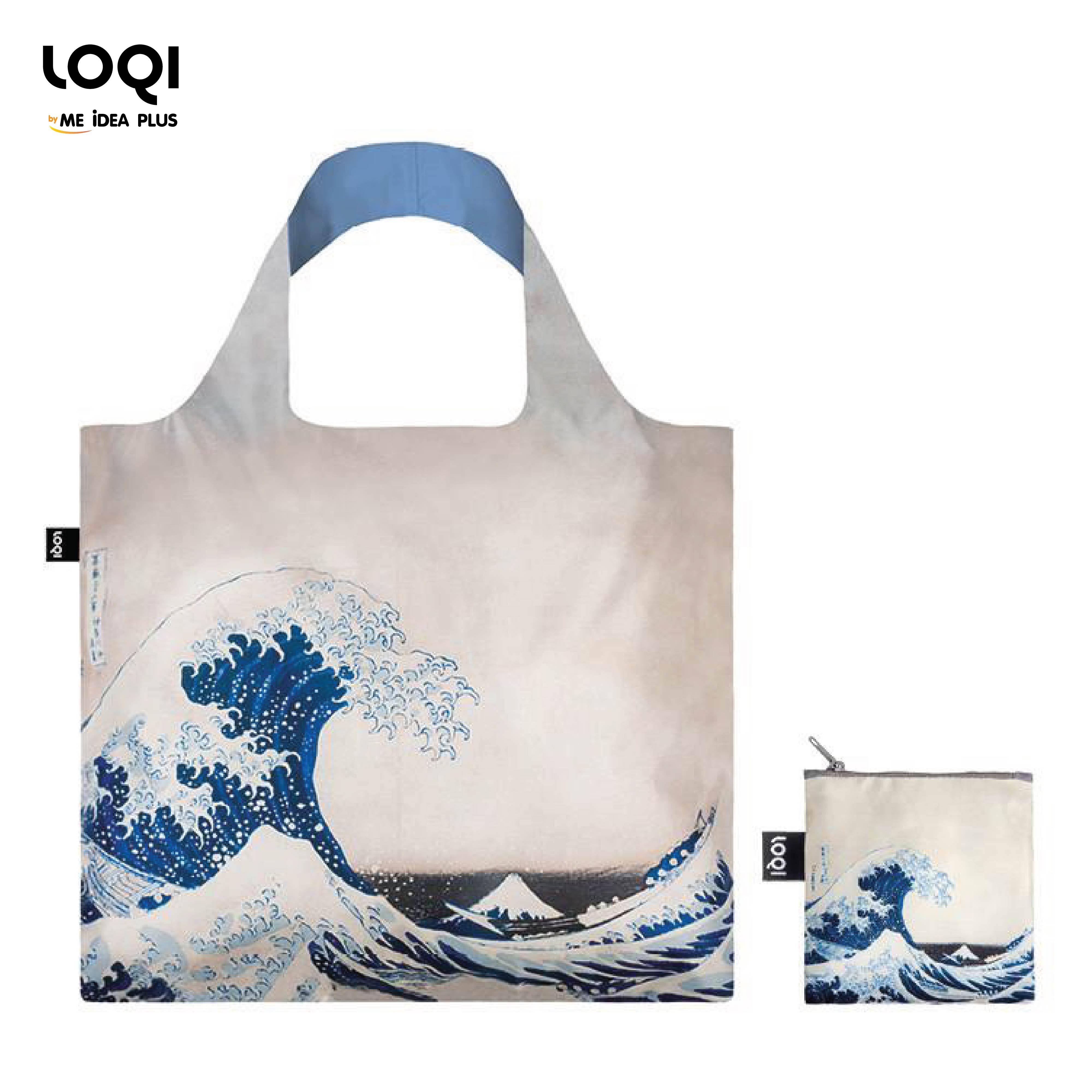 กระเป๋าผ้าแฟชั่นแบรนด์LOQI รุ่น HOKUSAI The Great Wave, 1831 Bag ใบใหญ่1ใบ+ใบเล็ก1ใบ