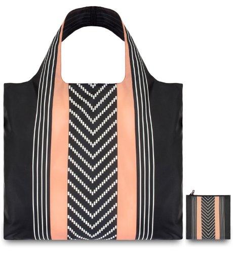กระเป๋าผ้าแฟชั่นแบรนด์LOQI รุ่น Echo Stripes ใบใหญ่1ใบ+ใบเล็ก1ใบ