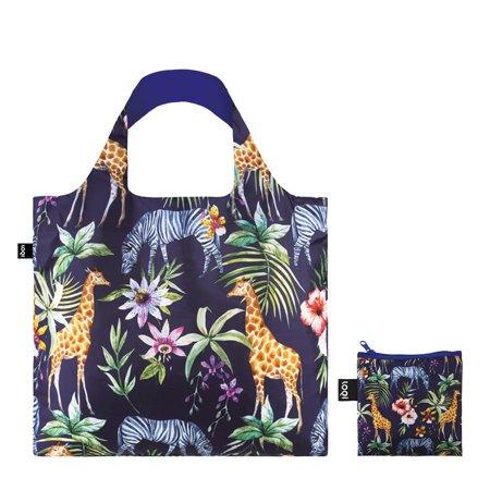 กระเป๋าผ้าแฟชั่นแบรนด์LOQI รุ่น Wild Zebra ใบใหญ่1ใบ+ใบเล็ก1ใบ