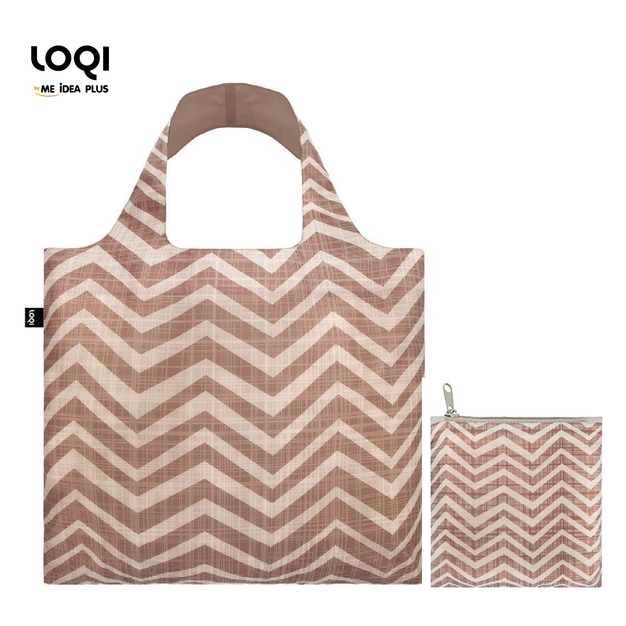 กระเป๋าผ้าแฟชั่นแบรนด์LOQI รุ่น Earth Clay ใบใหญ่1ใบ+ใบเล็ก1ใบ