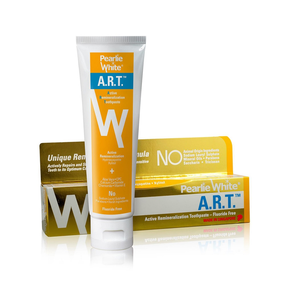 Pearlie White A.R.T. Active Remineralization Fluoride Free Toothpaste – 110gm