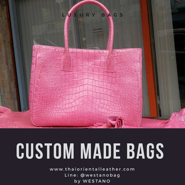Custom Made Crocodile Leather Handbag