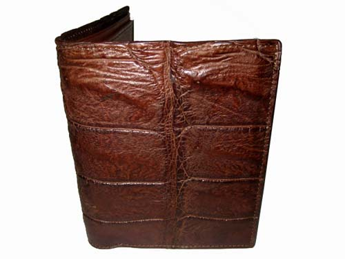 Genuine Belly Crocodile Leather Wallet in Dark Brown Crocodile Leather #CRW445W