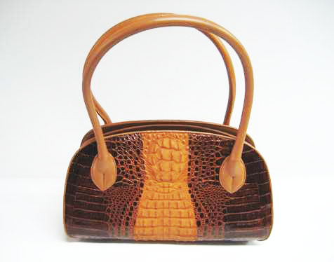 Genuine Crocodile HandBag in Brown Crocodile Leather #CRW235H