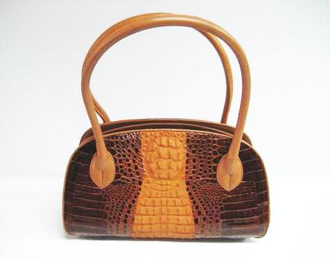 Genuine Crocodile HandBag in Brown Crocodile Leather #CRW235H