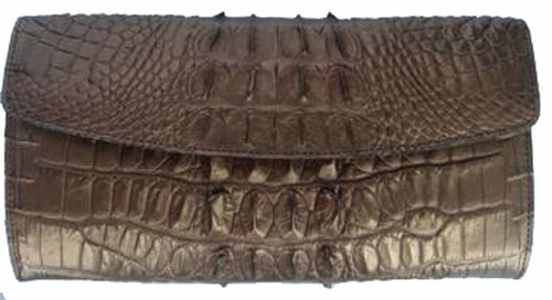Ladies Crocodile Leather Clutch Wallet  #CRW467W-05