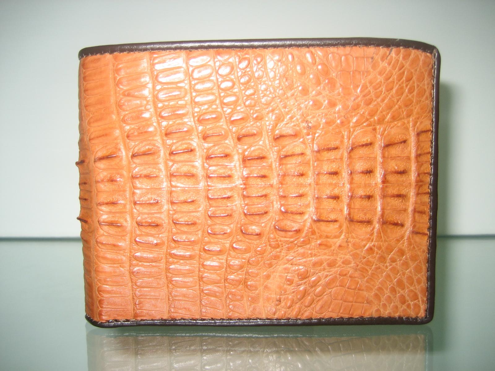Genuine Crocodile/Alligator Leather Wallet in Light Brown (Tan) Crocodile Leather #CRM443W-06