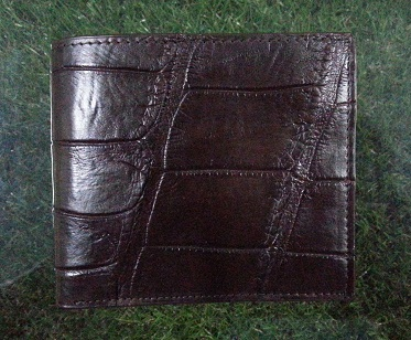 Belly Brown Crocodile Leather Wallet #CRM472W-BR