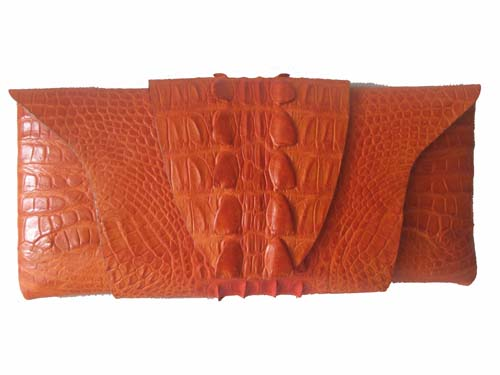 Genuine Crocodile Clutch/Purse in Tan Crocodile Leather #CRW208H-01