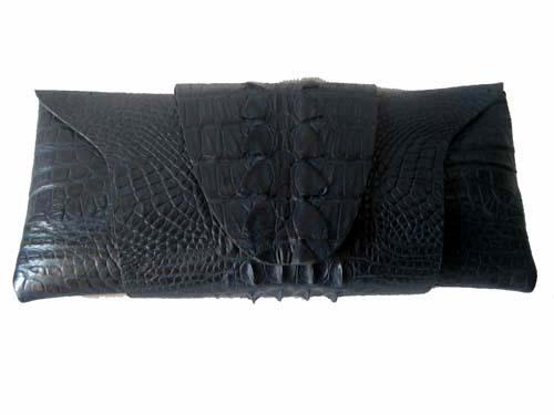 Genuine Crocodile Purse/Clutch Bag in Blue Crocodile Leather #CRW208H-03