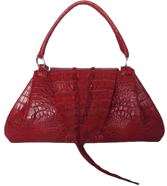 Genuine Crocodile Handbag in Red Crocodile Leather #CRW195H-09