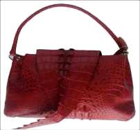 Genuine Crocodile Handbag/Shoulde Bag in Red Crocodile Leather #CRW215H