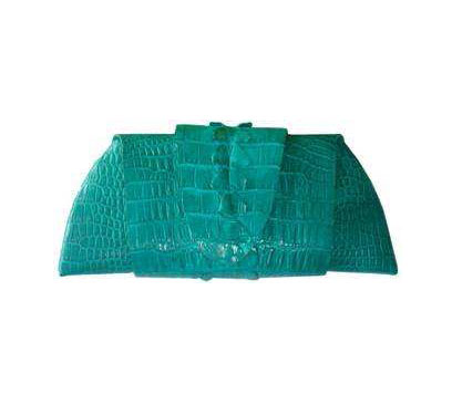 Genuine Crocodile Purse/Clutch Bag in Blue Crocodile Leather #CRW216H-02