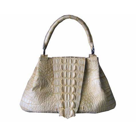 Genuine Crocodile Handbag in Cream Crocodile Leather #CRW195H-07