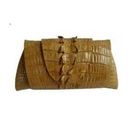 Genuine Crocodile Purse/Clutch Bag in Light Brown Crocodile Leather #CRW216H-01