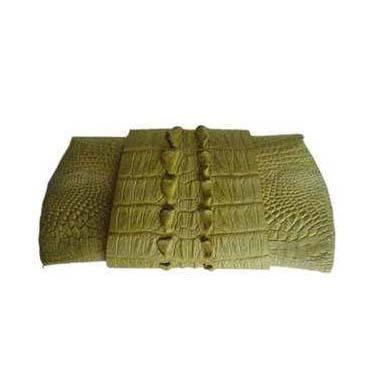 Genuine Crocodile Purse/Clutch bag in Light Green Crocodile Leather #CRW216H-03