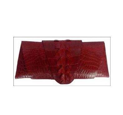 Genuine Crocodile Purse/Clutch Bag in Red Crocodile Leather #CRW216H-05