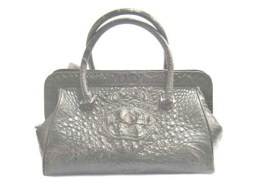 Genuine Crocodile Skin Bag in Chocolate Brown Crocodile Leather #CRW220H-01