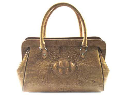 Genuine Crocodile Skin Bag in Light Brown Crocodile Leather #CRW220H-02