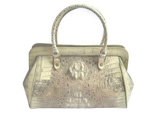 Genuine Crocodile Skin Bag in Natural Colour Crocodile Leather #CRW220H-03