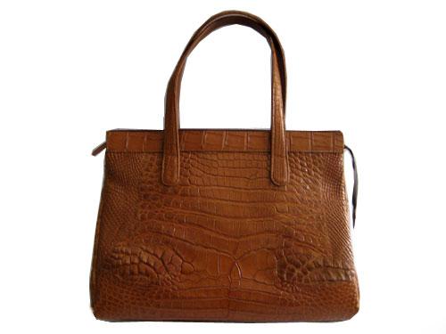 Genuine Crocodile Handbag in Light Brown(Tan) Crocodile Leather #CRW225H