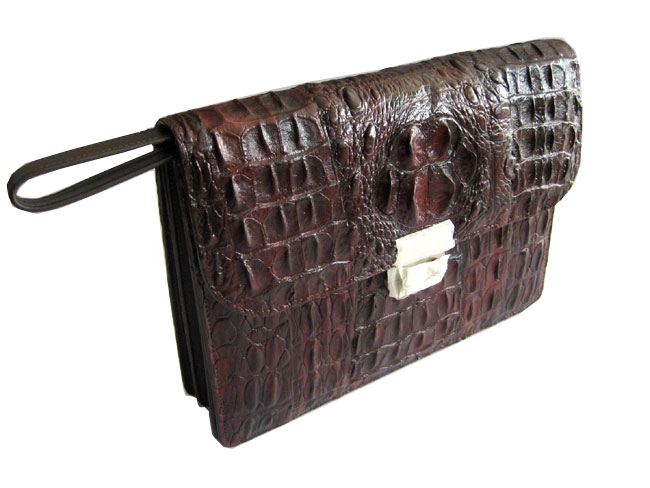 Genuine Crocodile Bag in Brown Crocodile Leather #CRM200H