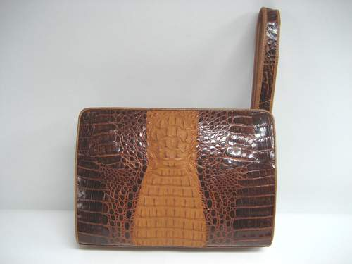 Genuine Crocodile Bag in Brown Crocodile Leather #CRM232H