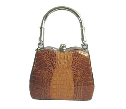 Ladies Crocodile HandBag in Brown Crocodile Leather #CRW236H