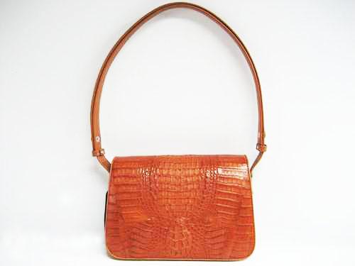 Genuine Crocodile Shoulder Bag in Light Brown Crocodile Leather #CRW238S