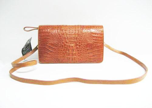 Genuine Crocodile Shoulder Bag in Light Brown Crocodile Leather #CRW239S