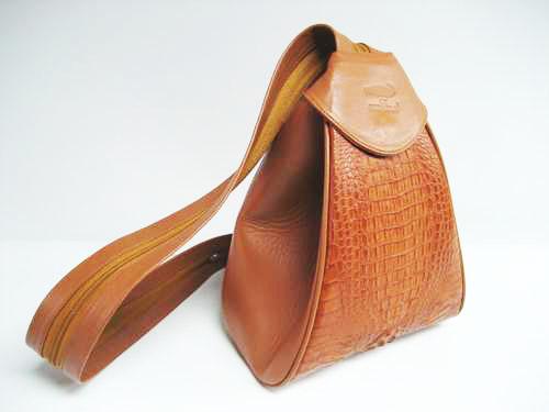 Genuine Crocodile Shoulder Bag in Light Brown Crocodile Leather #CRW240S-01
