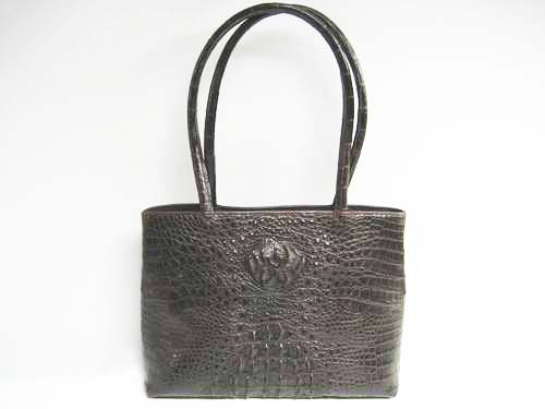 Genuine Crocodile Handbag in Dark Brown Crocodile Leather #CRW243S