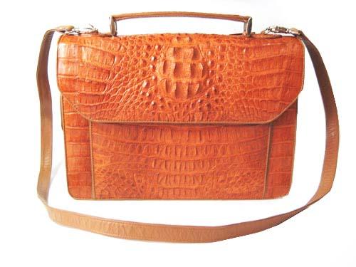 Genuine Crocodile Leather Briefcase in Light Brown(Tan) Crocodile Skin  #CRM428BR