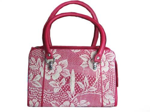 Genuine Stingray Leather Handbag in Black Stingray Skin  #STW369H