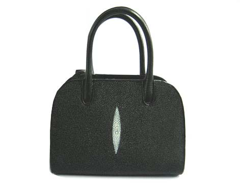 Genuine Stingray Leather Handbag in Black Stingray Skin  #STW377H