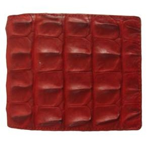 Genuine Crocodile Leather Wallet in Red Crocodile Leather #CRM451W-02