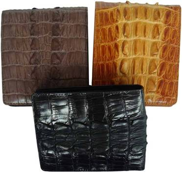 Genuine Crocodile Leather Wallet in Black Crocodile Leather #CRM451W-04 (black