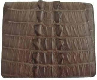 Genuine Crocodile Leather Wallet in Grey Crocodile Leather #CRM451W-06