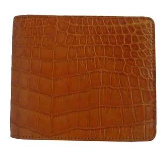 Genuine Belly Crocodile Leather Wallet in Light Brown Crocodile Skin #CRM452W-04