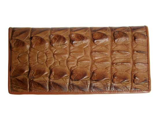 Ladies Crocodile Leather Passport Wallet in Light Brown (Tan) Crocodile Skin  #CRW459W-05