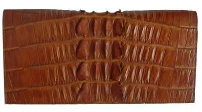Ladies Crocodile Leather Passport Wallet in Light Brown(Tan) Crocodile Skin  #CRW459W-07